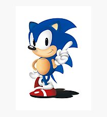 Sonic The Hedgehog Classic Photographic Print