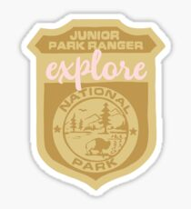 Explore Park Ranger Badge Sticker