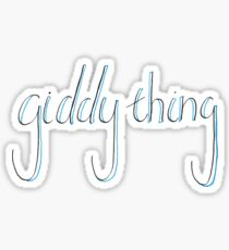Man is a Giddy Thing (color) Sticker