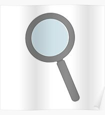 Magnifying Glass Object For Zoom And Tool Poster