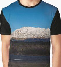 Snow Covered Mt Ruapehu Graphic T-Shirt