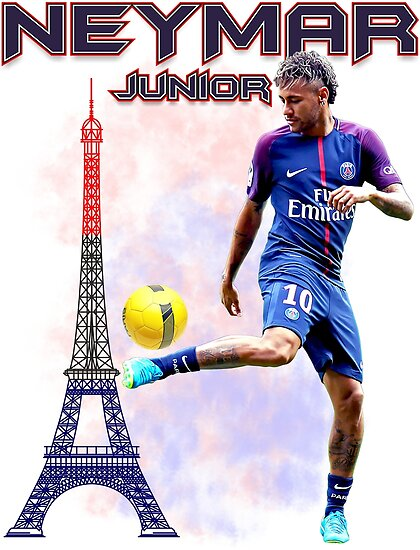 Neymar Jr Paris Tshirt By Andsao