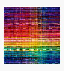 Rainbow seamless rustique fabric pattern Photographic Print