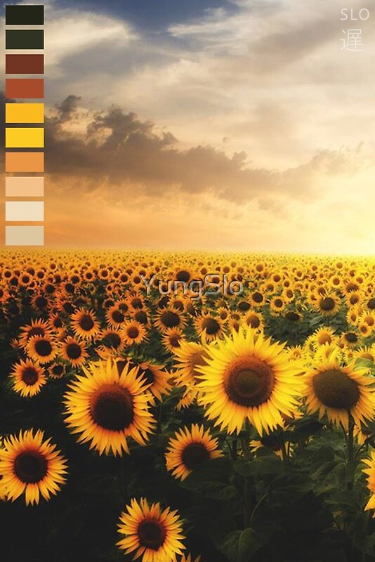 """""""Aesthetic Sunflower Palette"""" Posters by YungSlo 