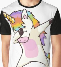 Dabbing Unicorn Shirt Hip Hop Dap Pose Graphic T-Shirt