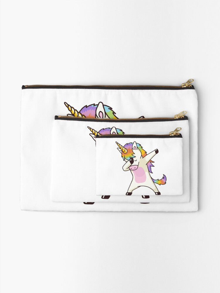 Alternate view of Dabbing Unicorn Shirt Hip Hop Dap Pose Zipper Pouch