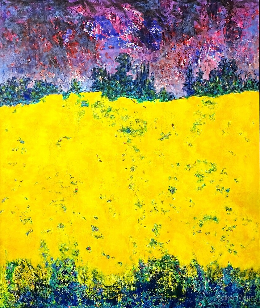 Rape field Nature oil painting by Volker Mayr