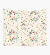 Peony Bunch Creamy Wallpaper Wall Tapestry