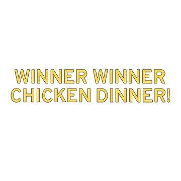 Playerunknown's Battlegrounds Winner Winner text by pennypentan