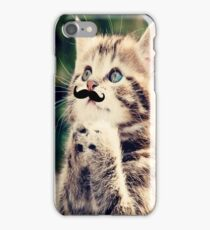 Mustache Kitten iPhone Case/Skin