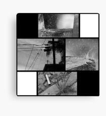 Monochrome Urban Mood Board Canvas Print