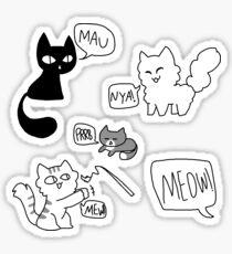 Cat noises Sticker