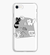 Cat noises iPhone Case/Skin