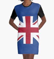 Flag of United Kingdom (UK) England. Graphic T-Shirt Dress