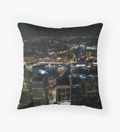 Stars of Darling Harbour Throw Pillow