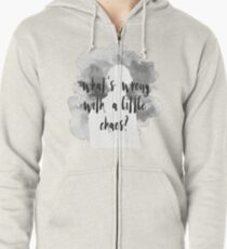 Bellamy Blake What's Wrong With A Little Chaos - Grey Zipped Hoodie