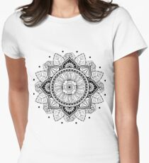 Floral mandala Women's Fitted T-Shirt