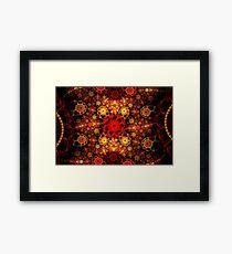 Red Orange Petals Framed Print