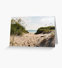 Nags Head Beach Access Greeting Card