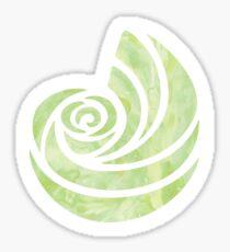 Green Watercolored Conch Sticker
