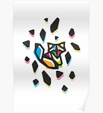 Rainbow Anigami Fox Poster