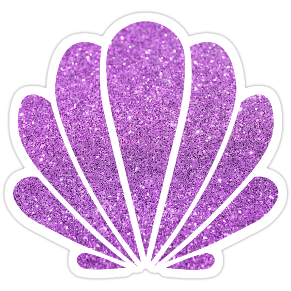 """Purple Sparkle Seashell"" Stickers by mynameisliana ..."