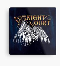 A Court of Wings and Ruin, The Night Court Metal Print