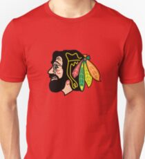 Jerry Hawk -- Blackhawks Jerry Garcia Unisex T-Shirt