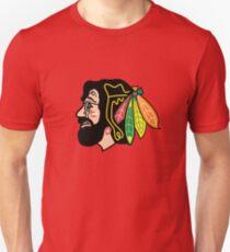 Jerry Hawk - Blackhawks Jerry Garcia Slim Fit T-Shirt