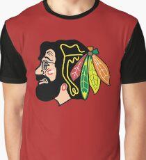 Jerry Hawk -- Blackhawks Jerry Garcia Graphic T-Shirt