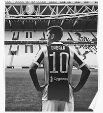 Dybala Black & White  Poster