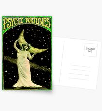 PSYCHIC FORTUNES : Vintage Fortune Telling Print Postcards
