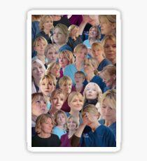 Bernie Wolfe (Collage) Sticker