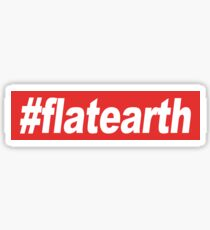 hashtag flat earth Sticker