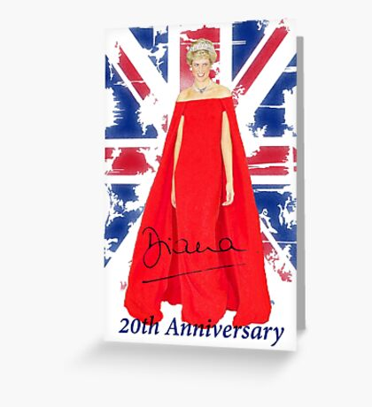 Lady Di - 20th Anniversary Greeting Card