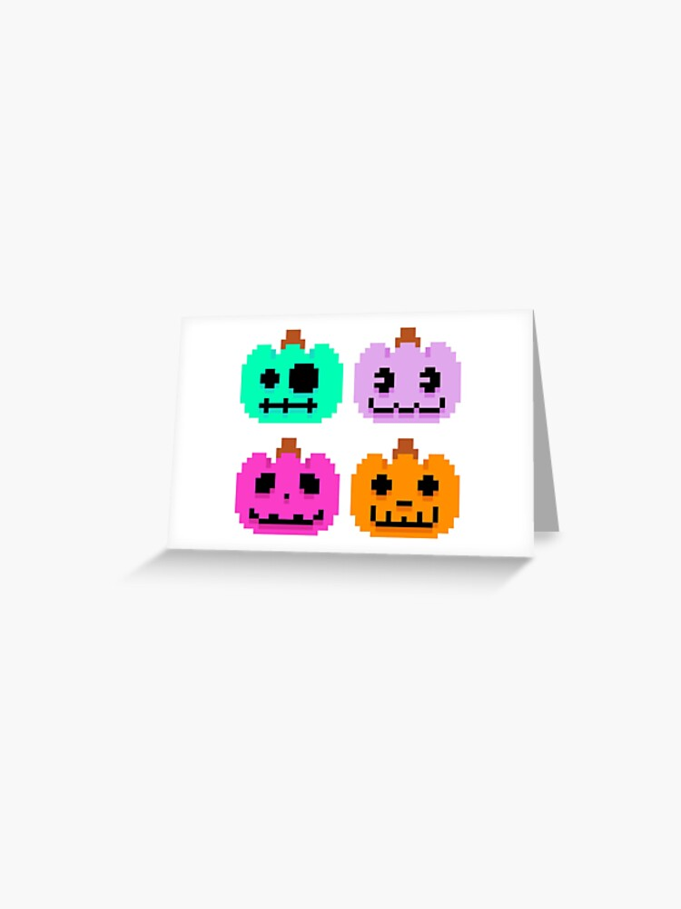 Acnl Pixel Pumpkins Greeting Card