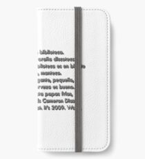 Spanish 101 Rap iPhone Wallet/Case/Skin