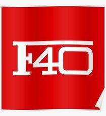 Ferarri - F40 logo Poster