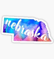 Nebraska - Watercolor  Sticker