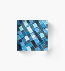 Technology pattern - abstract digitally generated image Acrylic Block