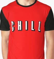 Netflix and Chill - Chill Parody Logo Graphic T-Shirt
