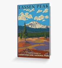Lassen Volcanic National Park Painted Dunes California Travel Decal Greeting Card