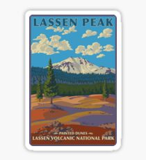 Lassen Volcanic National Park Painted Dunes California Travel Decal Sticker