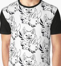 Ornate Bats (White) Graphic T-Shirt