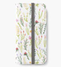 Fun Floral Pattern iPhone Wallet/Case/Skin