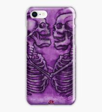 skeleton lovers iPhone Case/Skin