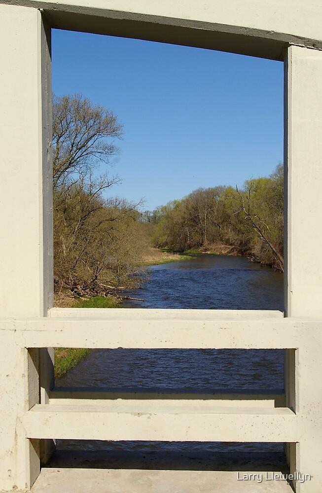 View Through a Bridge... by Larry Llewellyn
