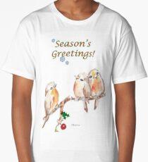 3 Little Birds - Season's Greetings! Long T-Shirt
