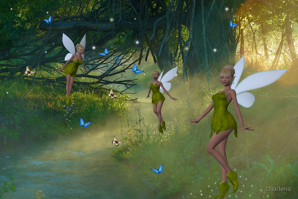 Woodland Fairies by charlena