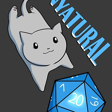 Natural 20 D&D Cat by Shippery